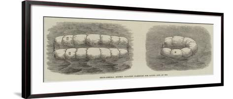 Rear-Admiral Ryder's Floating Hammocks for Saving Life at Sea--Framed Art Print