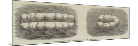 Rear-Admiral Ryder's Floating Hammocks for Saving Life at Sea--Mounted Giclee Print
