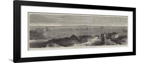 The Breakwater and Harbour of Holyhead, Anglesey, North Wales--Framed Art Print