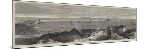 The Breakwater and Harbour of Holyhead, Anglesey, North Wales--Mounted Giclee Print