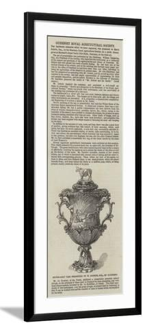 Silver-Gilt Vase Presented to H Dobree, Esquire, of Guernsey--Framed Art Print