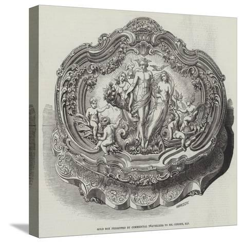 Gold Box Presented by Commercial Travellers to Mr Cobden--Stretched Canvas Print