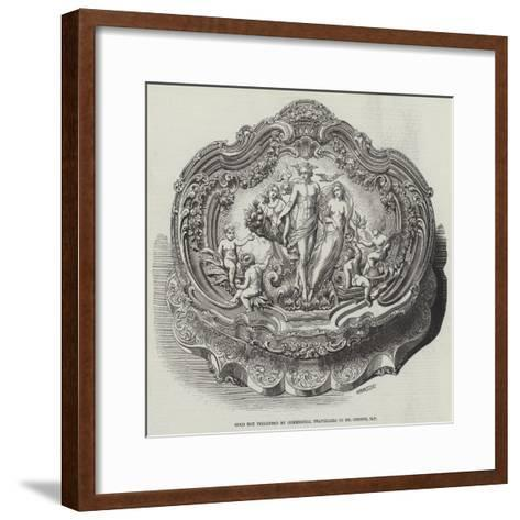 Gold Box Presented by Commercial Travellers to Mr Cobden--Framed Art Print