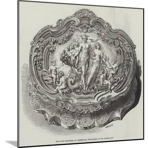 Gold Box Presented by Commercial Travellers to Mr Cobden--Mounted Giclee Print