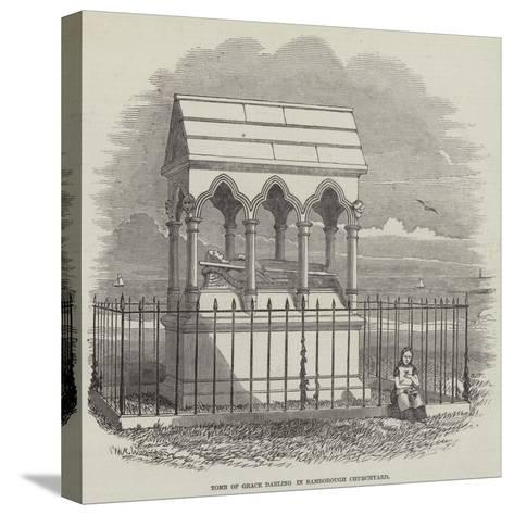 Tomb of Grace Darling in Bamborough Churchyard--Stretched Canvas Print