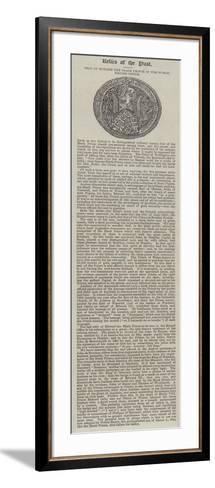 Seal of Edward the Black Prince in the Public Record Office--Framed Art Print