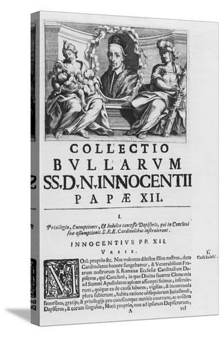 Collection of the Papal Bulls of Pope Innocent XII--Stretched Canvas Print