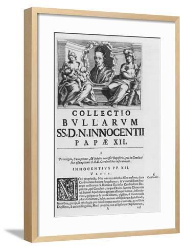 Collection of the Papal Bulls of Pope Innocent XII--Framed Art Print