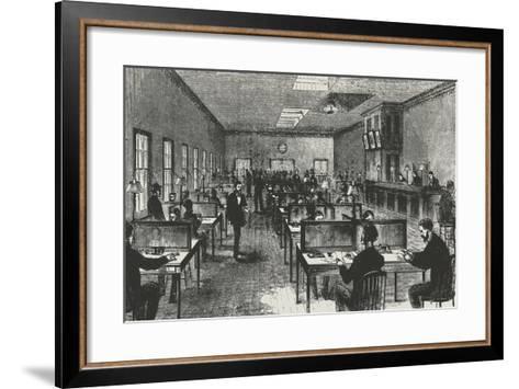Telegraph Hall, New York, 1860, United States, 19th Century--Framed Art Print