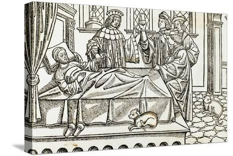 Medical History, Doctors with a Patient,, 16th Century--Stretched Canvas Print