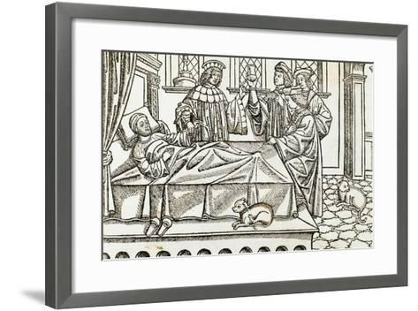 Medical History, Doctors with a Patient,, 16th Century--Framed Art Print
