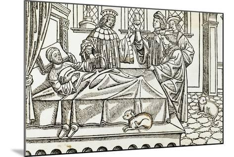 Medical History, Doctors with a Patient,, 16th Century--Mounted Giclee Print