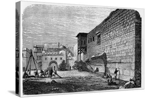 Robinson's Arch, Jerusalem--Stretched Canvas Print