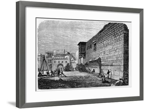 Robinson's Arch, Jerusalem--Framed Art Print