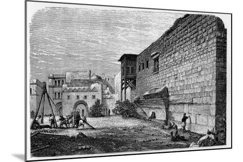Robinson's Arch, Jerusalem--Mounted Giclee Print