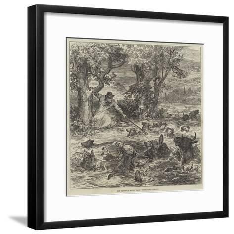 The Floods in South Wales, Scene Near Cardiff--Framed Art Print