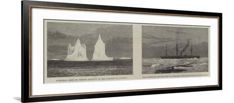 Prince Leopold Among the Icebergs--Framed Art Print
