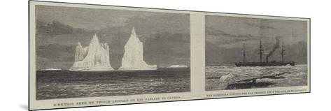 Prince Leopold Among the Icebergs--Mounted Giclee Print