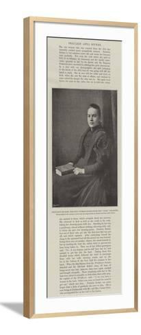 Fraulein Bocker, the Only Woman Saved from the Elbe Disaster--Framed Art Print