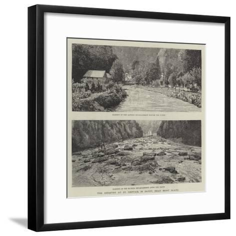 The Disaster at St Gervais, in Savoy, Near Mont Blanc--Framed Art Print