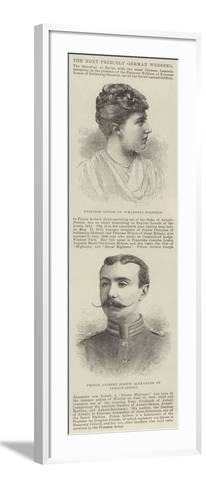 The Next Princely German Wedding--Framed Art Print