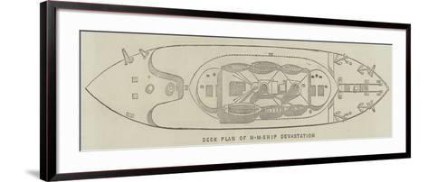Deck Plan of Hm Ship Devastation--Framed Art Print