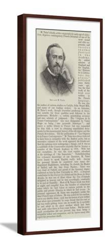 The Late M Taine--Framed Art Print
