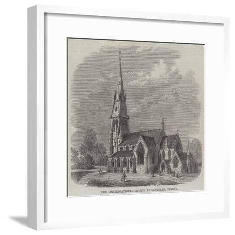 New Congregational Church at Lewisham, Surrey--Framed Art Print