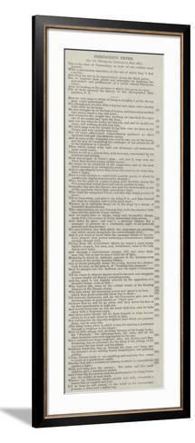 Precocious Peter--Framed Art Print