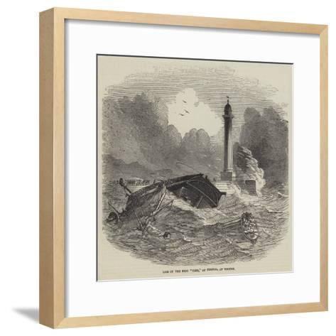 Loss of the Brig Vine, of Bristol, at Whitby--Framed Art Print