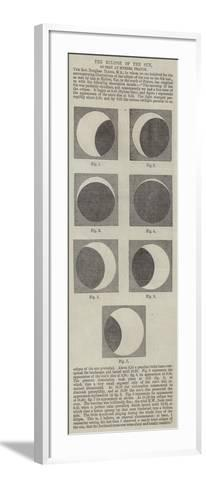 The Eclipse of the Sun, as Seen at Hyeres, France--Framed Art Print