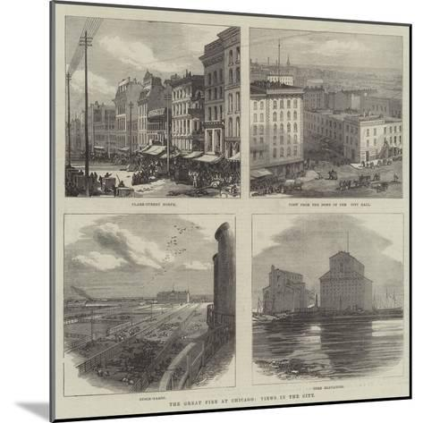 The Great Fire at Chicago, Views in the City--Mounted Giclee Print