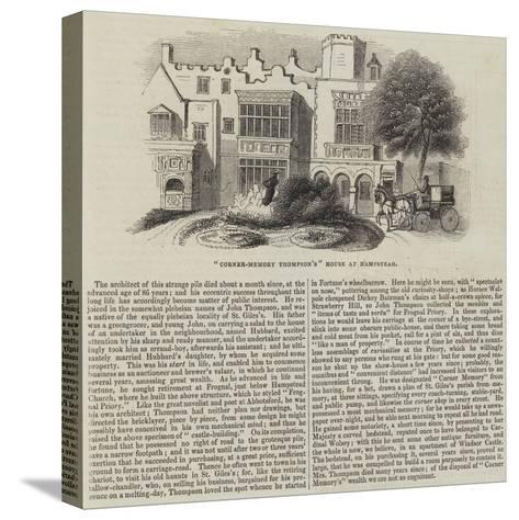 Corner-Memory Thompson'S House at Hampstead--Stretched Canvas Print