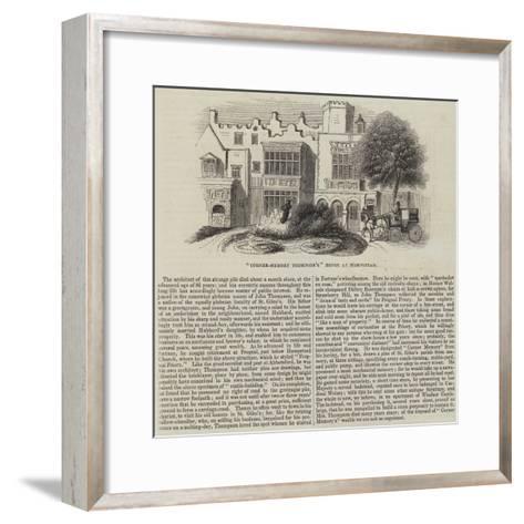Corner-Memory Thompson'S House at Hampstead--Framed Art Print