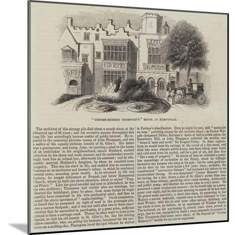 Corner-Memory Thompson'S House at Hampstead--Mounted Giclee Print