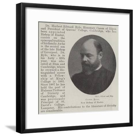 Canon Ryle, New Bishop of Exeter--Framed Art Print
