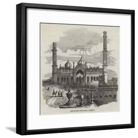 Part of the Imaum Bala, Lucknow--Framed Art Print