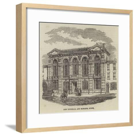 New Townhall and Markets, Rugby--Framed Art Print