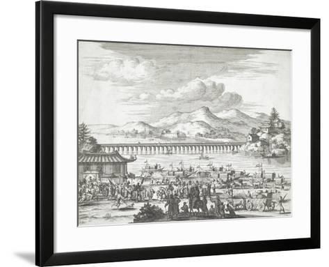 Bridge over the Yangtse River--Framed Art Print