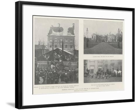Princess Christian's Visit to Earl Spencer at Althorp Park--Framed Art Print