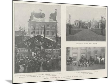 Princess Christian's Visit to Earl Spencer at Althorp Park--Mounted Giclee Print