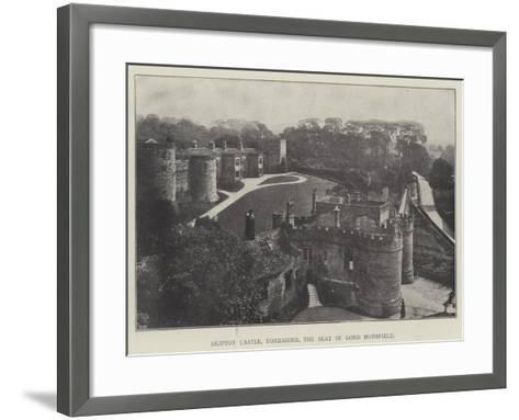 Skipton Castle, Yorkshire, the Seat of Lord Hothfield--Framed Art Print
