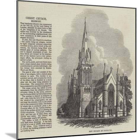 Christ Church at Highbury--Mounted Giclee Print