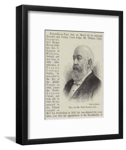 The Late Mr Digby Seymour--Framed Art Print
