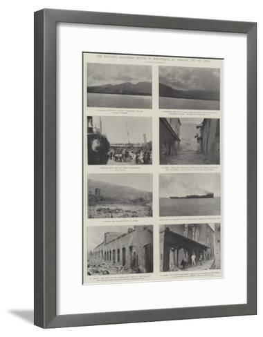 The Volcanic Disasters, Scenes in Martinique, St Vincent, and St Lucia--Framed Art Print