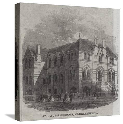 St Paul's Schools, Clerkenwell--Stretched Canvas Print