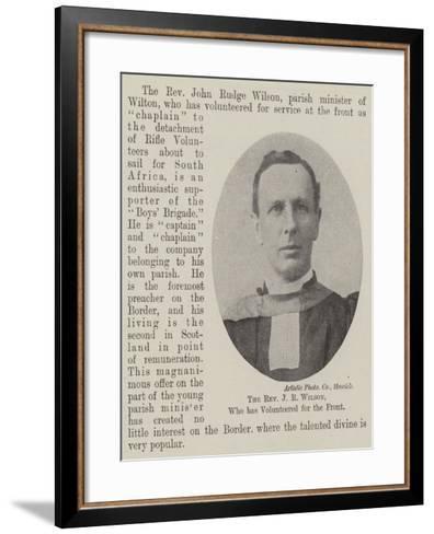 The Reverend J R Wilson, Who Has Volunteered for the Front--Framed Art Print