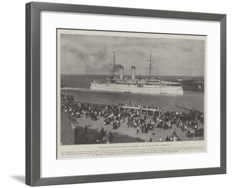 To Bring Ex-President Kruger to Europe, the Dutch Cruiser, Gelderland--Framed Art Print