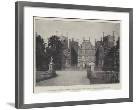 Sherborne Castle, Dorset, the Seat of Mr John K Wingfield-Digby--Framed Art Print