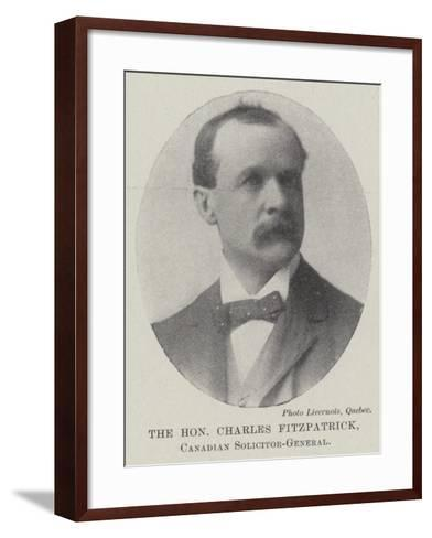 The Honourable Charles Fitzpatrick, Canadian Solicitor-General--Framed Art Print